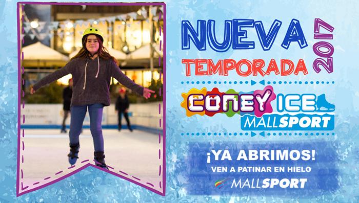 Pista de patinaje en Mall Sport