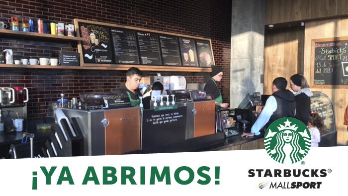 Apertura Starbucks Mall Sport