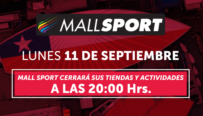 Horario 11 de Septiembre en Mall Sport