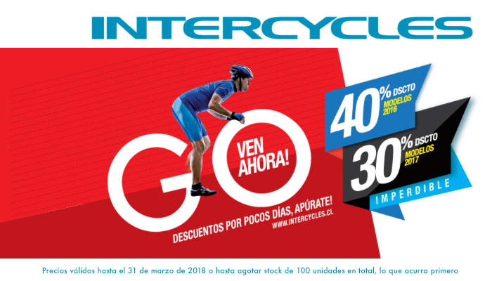 Descuentos hasta 40% en Intercycles Mall Sport