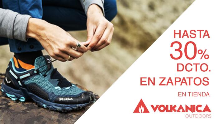 Hasta 30% descuento en zapatos en tienda Volkanica